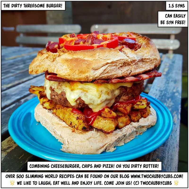 dirty threesome burger