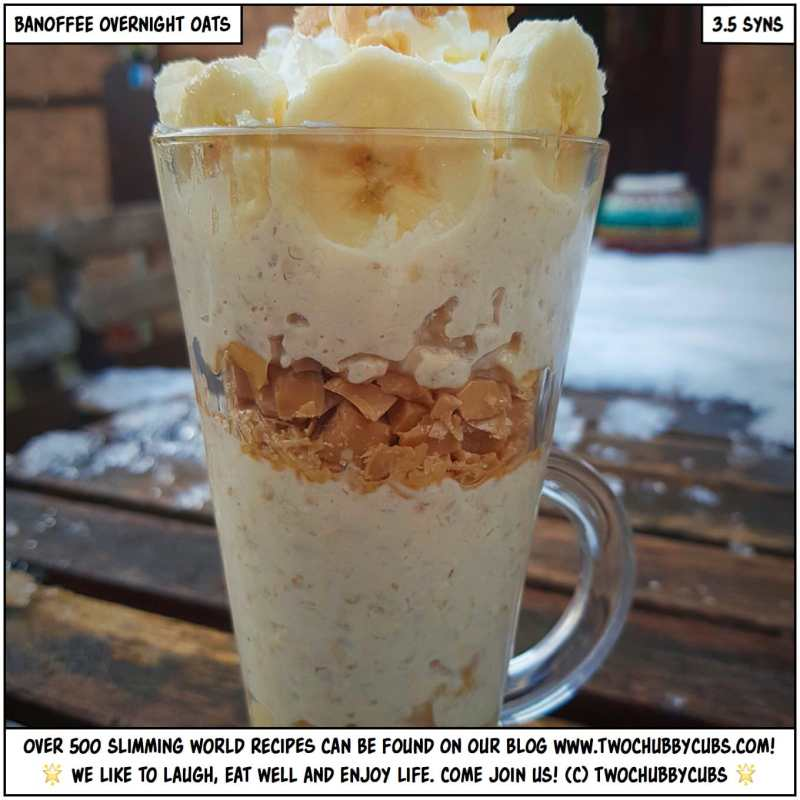 banoffee overnight oats