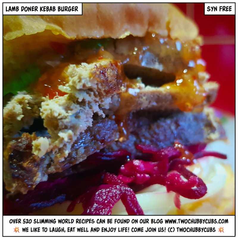 lamb doner kebab burger