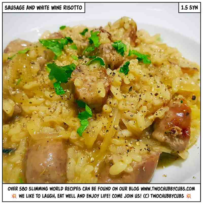 sausage and white wine risotto