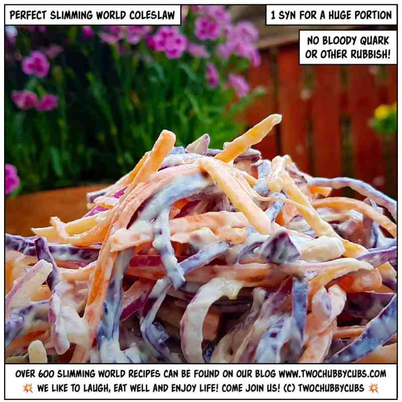 slimming world coleslaw