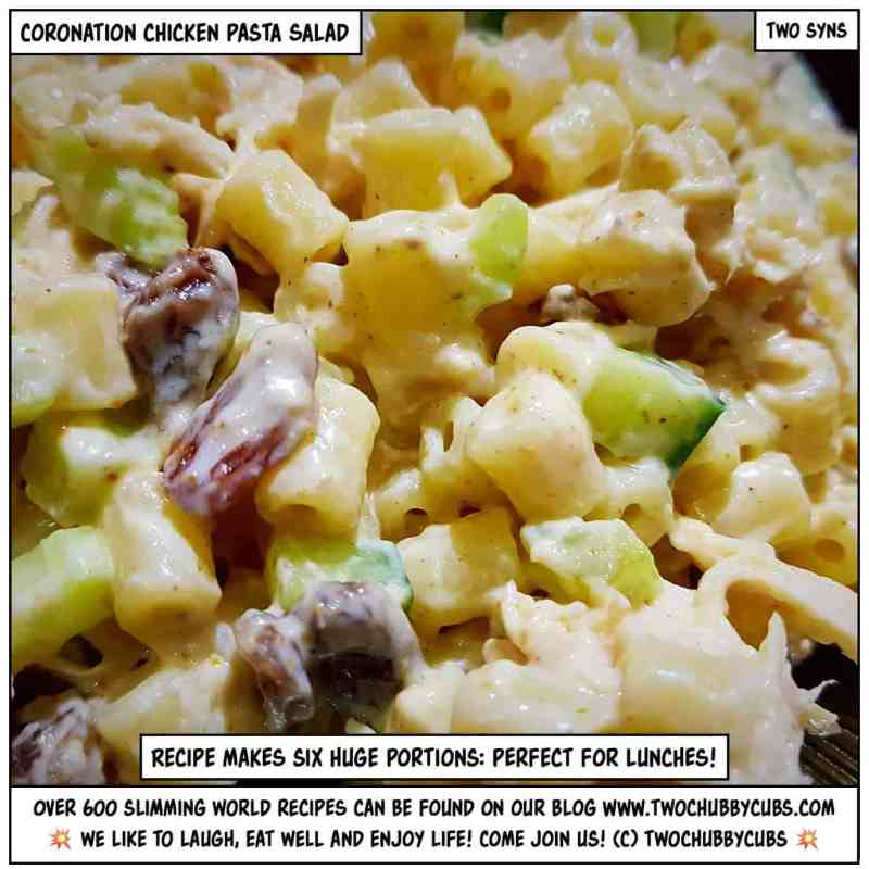 coronation chicken pasta salad