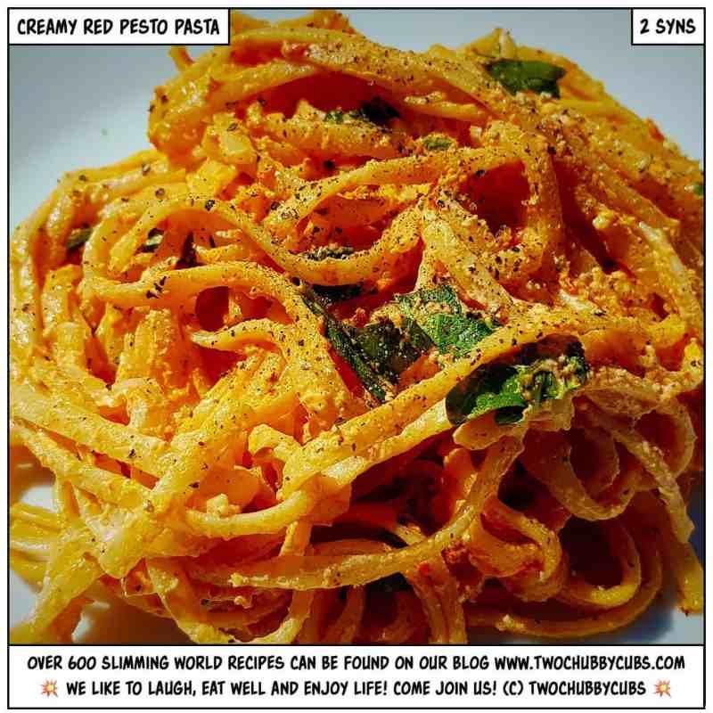 red pesto pasta