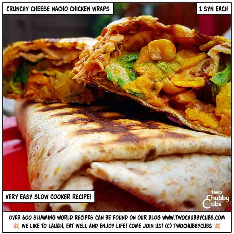 crunchy cheese nacho chicken wraps