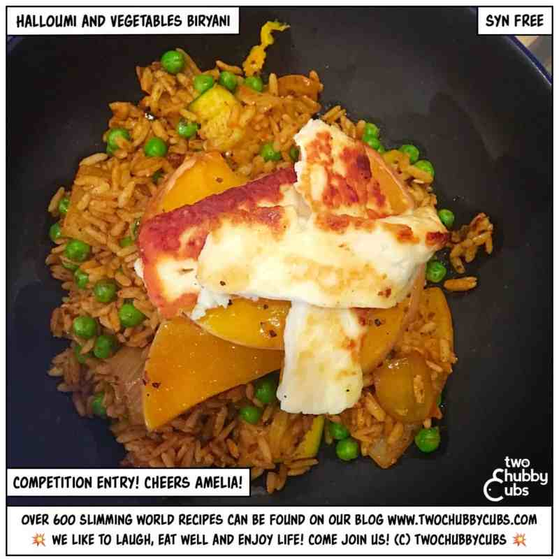 halloumi and vegetable biryani