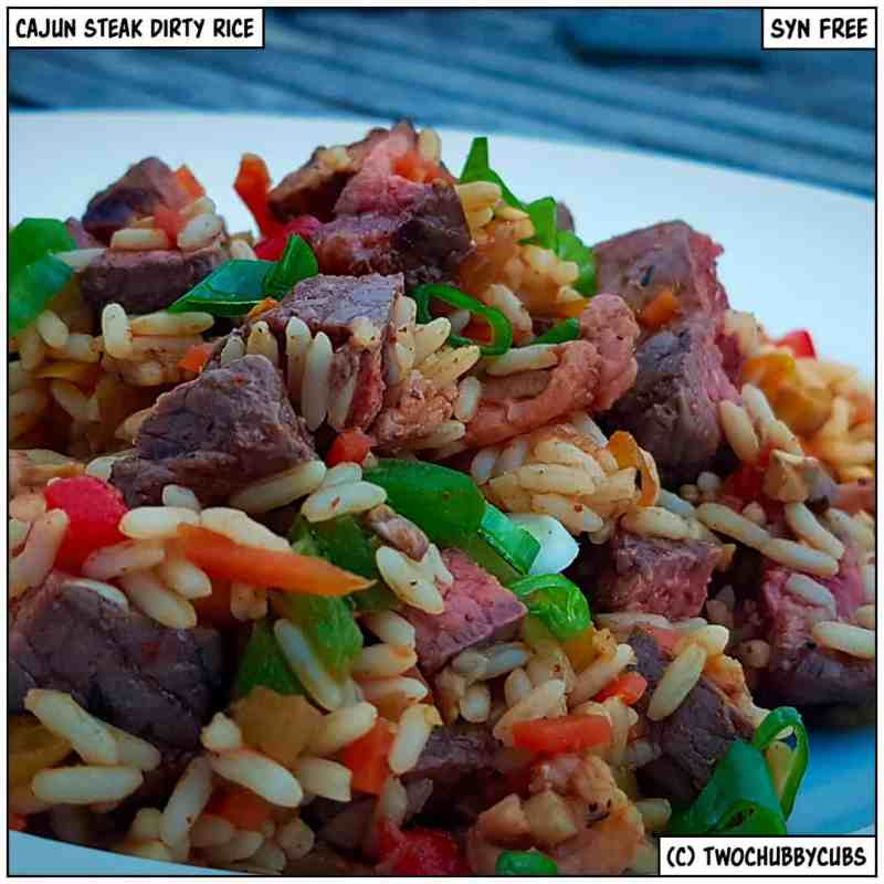 cajun steak dirty rice