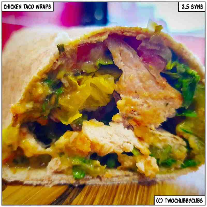 chicken taco wraps