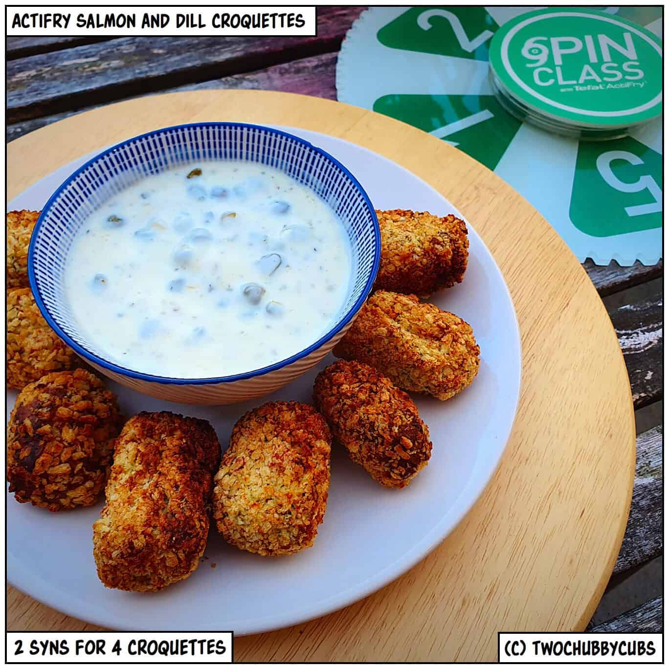 Actifry Salmon And Dill Croquettes