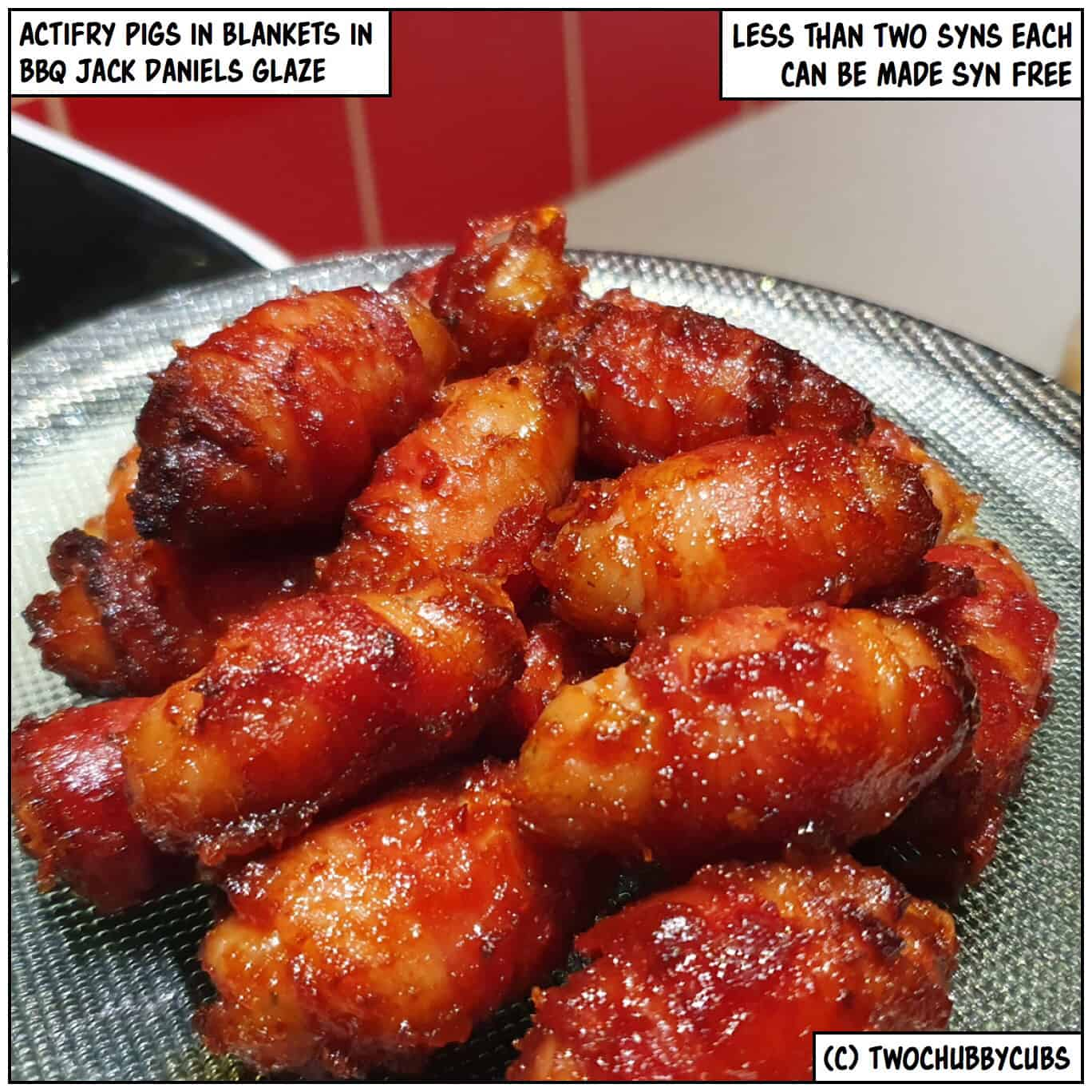 Actifry Pigs In Blankets With A Bbq Jack Daniels Glaze