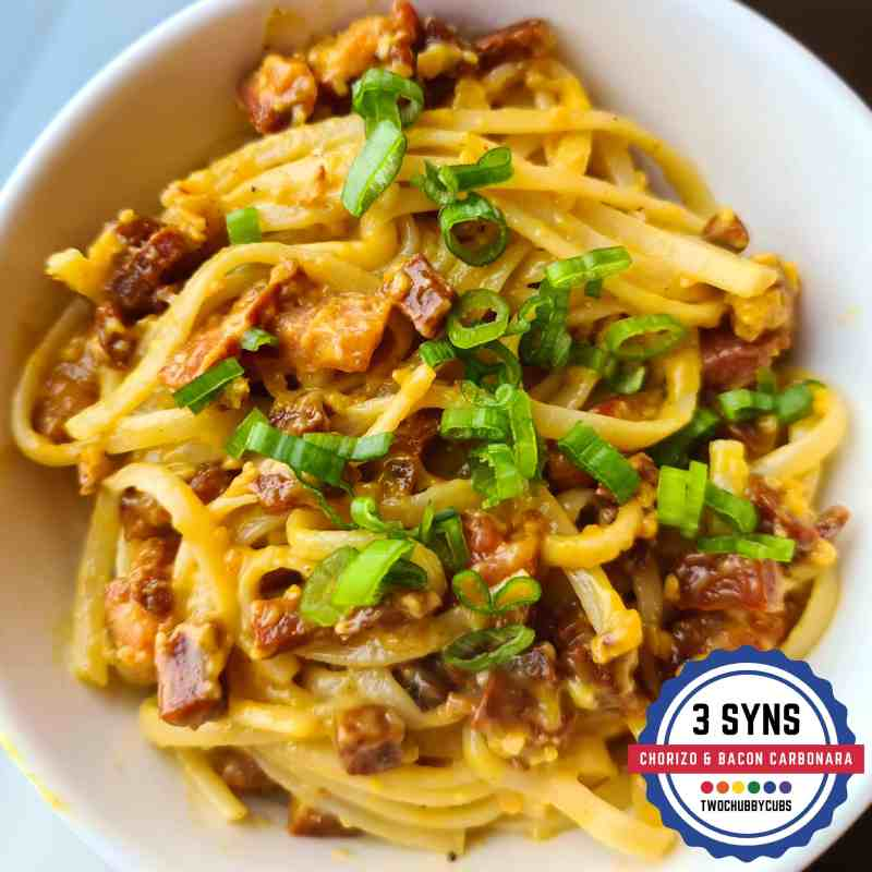 bacon and chorizo carbonara