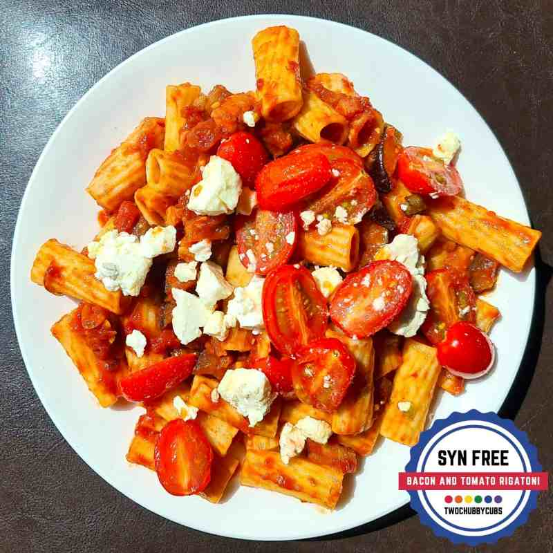 bacon and tomato rigatoni