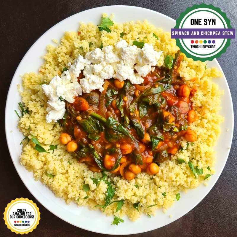 spinach and chickpea stew