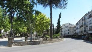 Main plaza in Baeza
