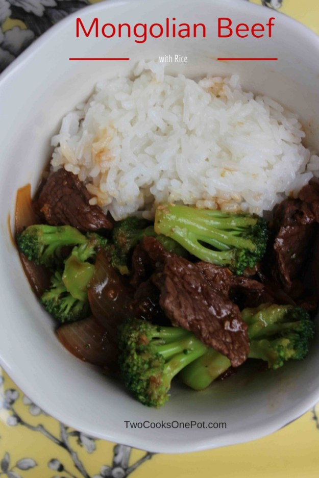 http://twocooksonepot.com Mongolian Beef with rice