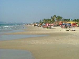 the beach in Goa