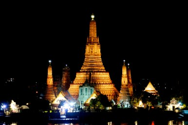 The view of Wat Arun from dinner