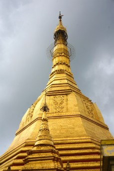 Closer view of the Sule Pagoda