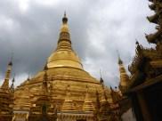 The much bigger Shwedagon Pagoda