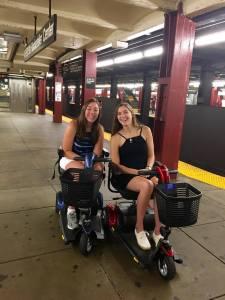 Avery sisters at NYC subway platform