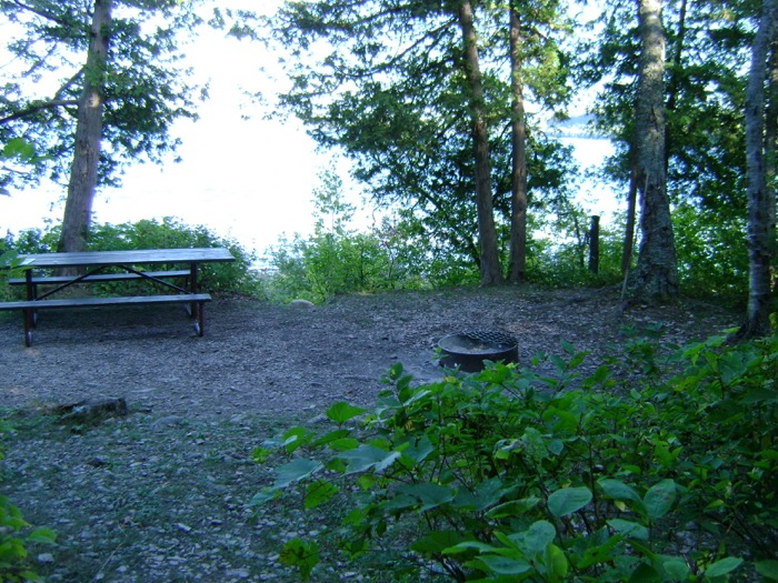 View of right end of campsite in Peninsula State Park
