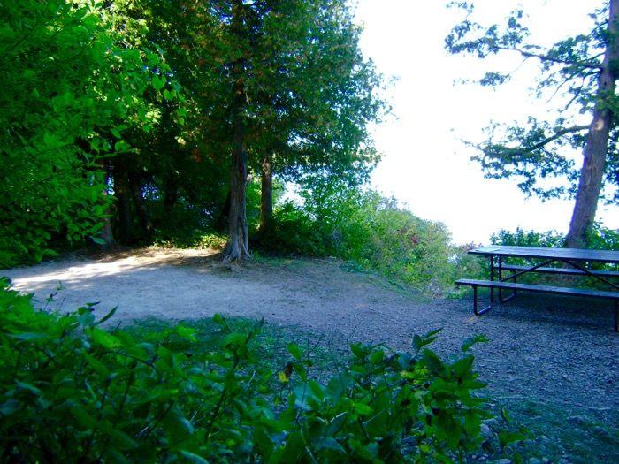View of left end of campsite in Peninsula State Park