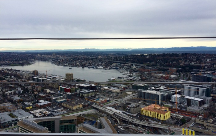 Cascade Mountains from the top of the Space Needle