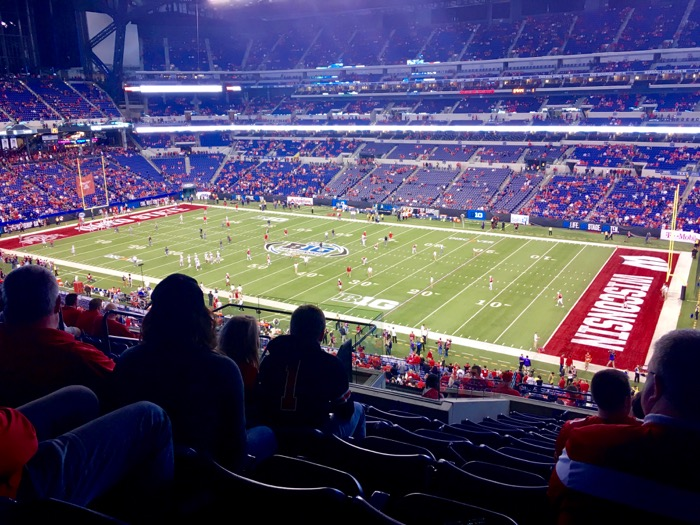 View of the field from our seats at the 2017 Big Ten Football Championship