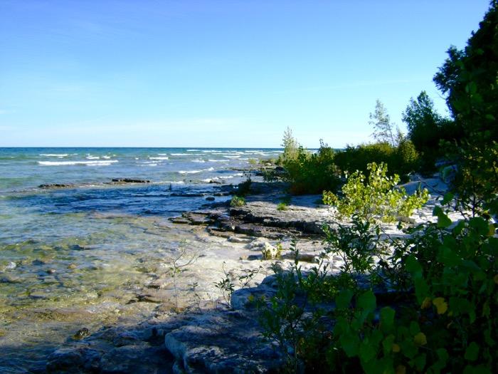 Cana Island shoreline