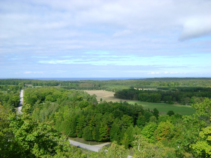 Another view from the lookout tower on Washington Island