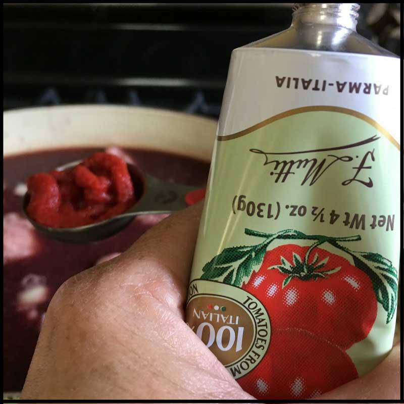 Add the tomato paste.