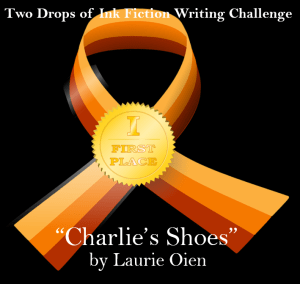 The Fiction Challenge: 'Charlie's Shoes' by Laurie Oien two drops of ink