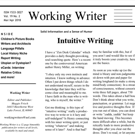 Collaboration: New Publication Opportunities for our Writing Audience maggie frisch