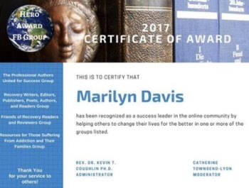 hero award from addict 2 advocate marilyn l davis