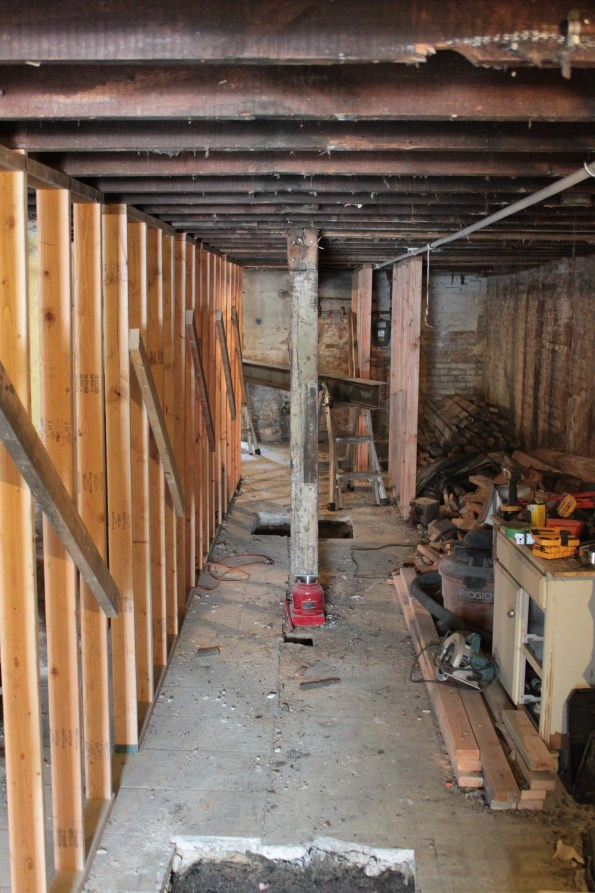 Old beam removed