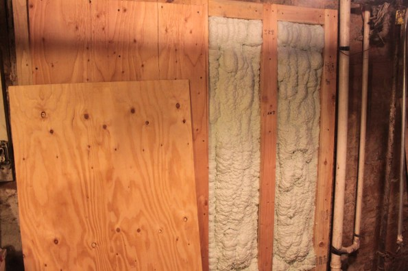 Panel framing and spray foam