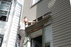 Matt removing siding