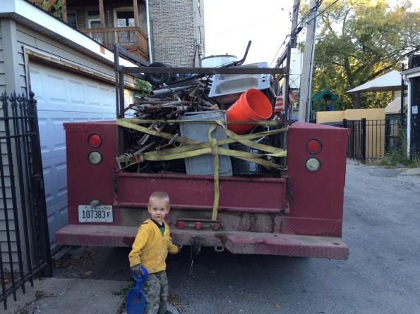 Truck loaded with scrap (also Derek)