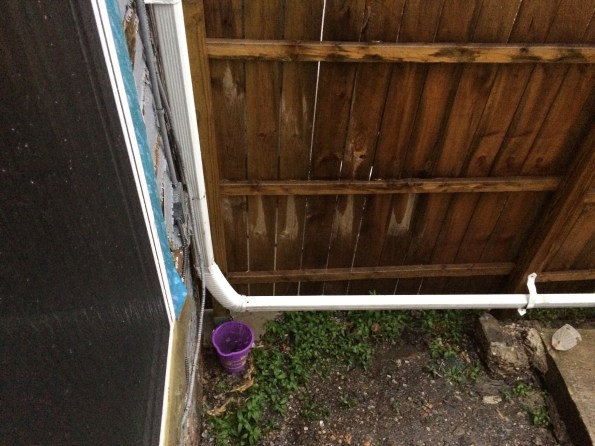 Old downspout accordion