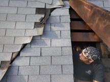 Poor roof mending