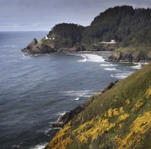 Heceta Head Lighthouse. Oregon Coast.