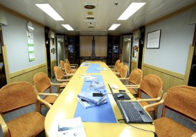 All's quiet in the ship's library during the crossing...