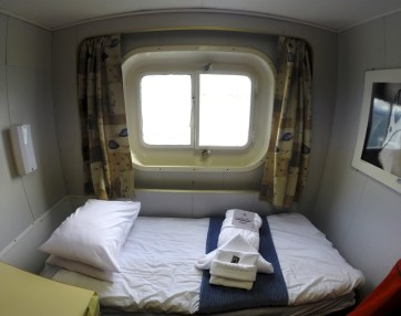 Our awesome little cabin on board the Ioffe.
