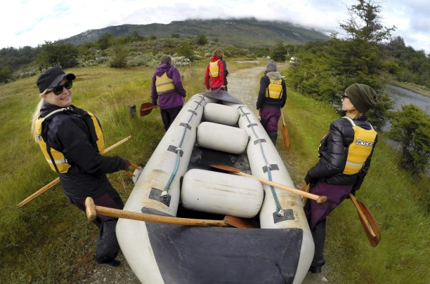 Coming out of the water in Tierra del Fuego National Park.