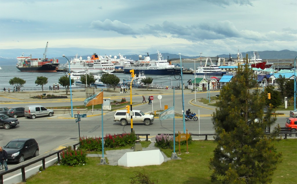 Ships in the Port of Ushuaia