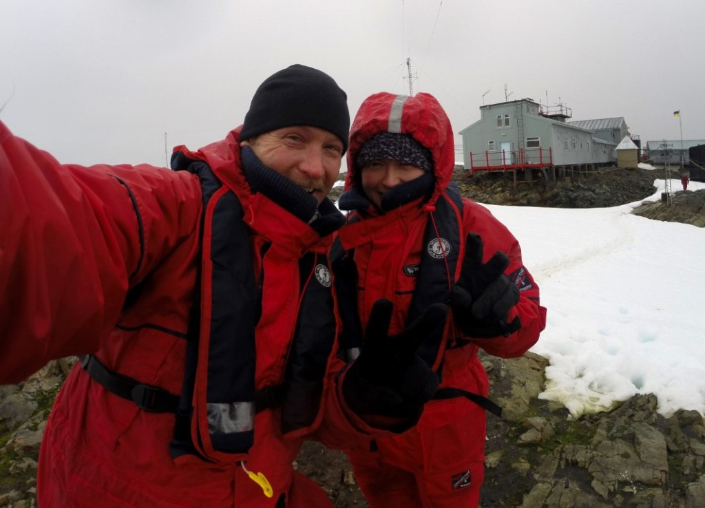 Nik and Dusty in Antarctica