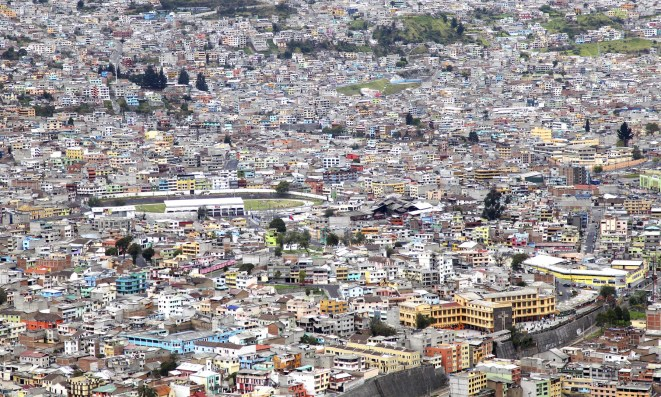 The city as seen from El Panecillo looking south. Wow!