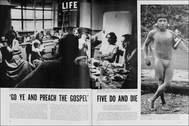 A 1956 Life Magazine feature about the murdered missionaries.