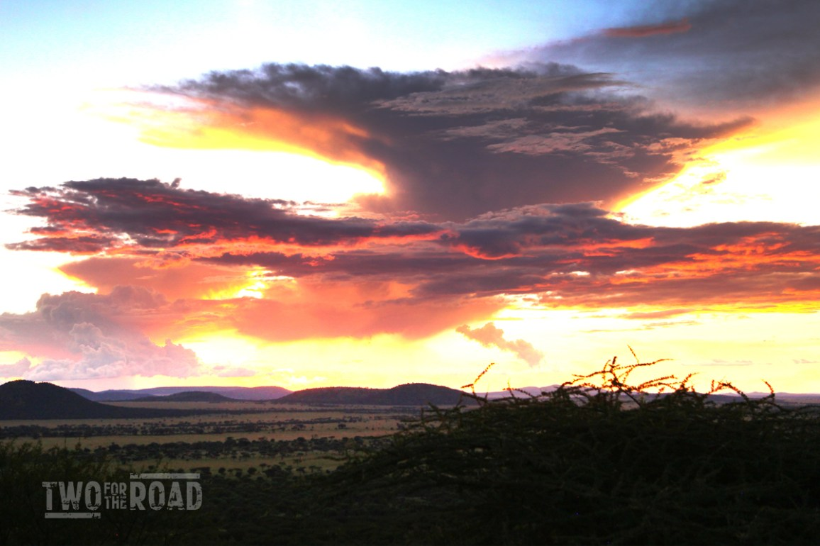 Two for the Road Photo of the Day 8/8/2015: Sunset in the Serengeti
