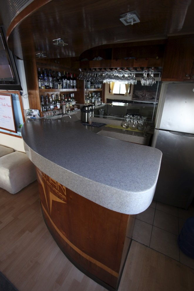 The bar! Also our favorite spot on board. :)
