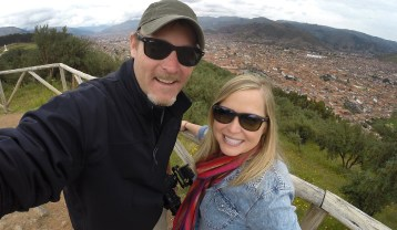 Selfie! From the ruins of Sacsayhuaman, above Cusco, Peru.